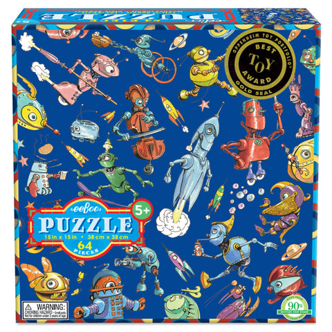 Lots of Robots 64 Piece Puzzle