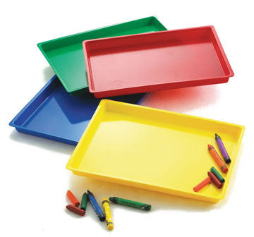 Coloured Paint Tray Set 4pc pbag