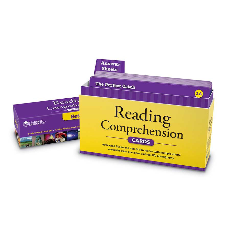 Reading Comprehension Cards Set - Ages 11+ (Grade 6) - iPlayiLearn.co.za
