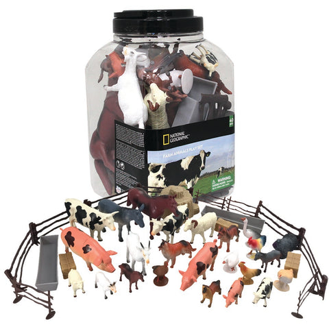 National Geographic Farm Animal Playset: 4 - 18cm: 24 Figures & 16 Accessories