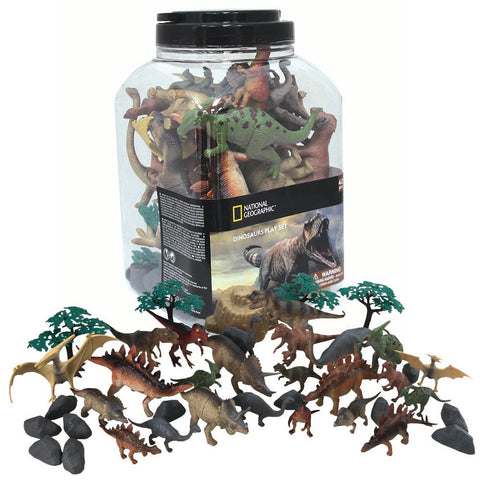 National Geographic Dinosaur Playset 40pc: 24 Figures & 16 Accessories