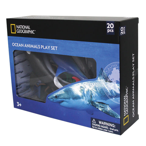 National Geographic Ocean Life Figures Playset: 12-21cm: 10pc & 10 accessories