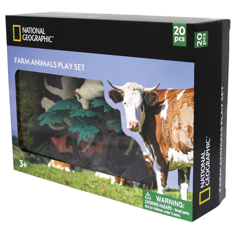 National Geographic Farm Animal Playset: 4 - 18cm: 10 figures &10 accessories