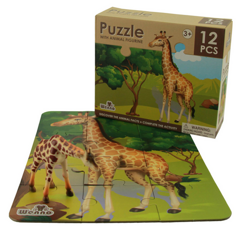 National Geographic 12-Piece Giraffe Puzzle & Figurine
