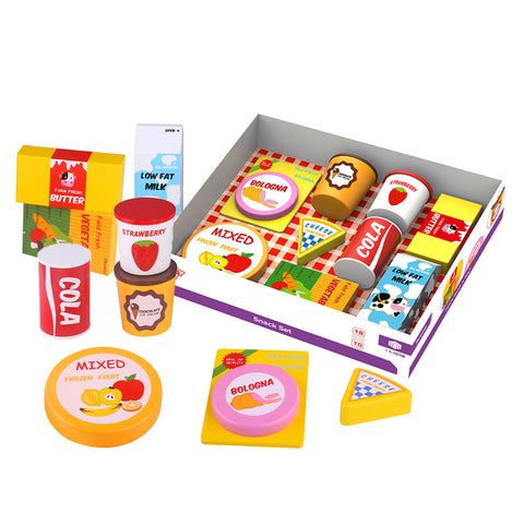 Wooden Snack Set 9pc