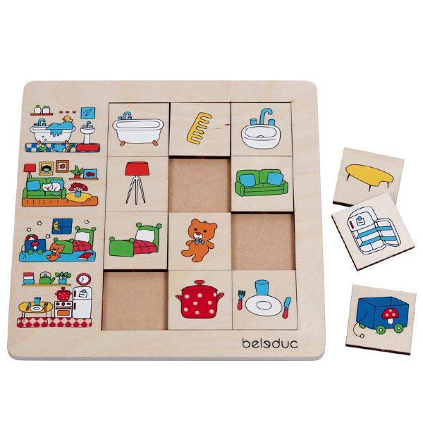 "Sorting Set ""Our Home"" 12pc (245 x 245 x 8) - iPlayiLearn.co.za"