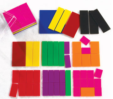 Fraction Squares Unprinted 24pcs - iPlayiLearn.co.za