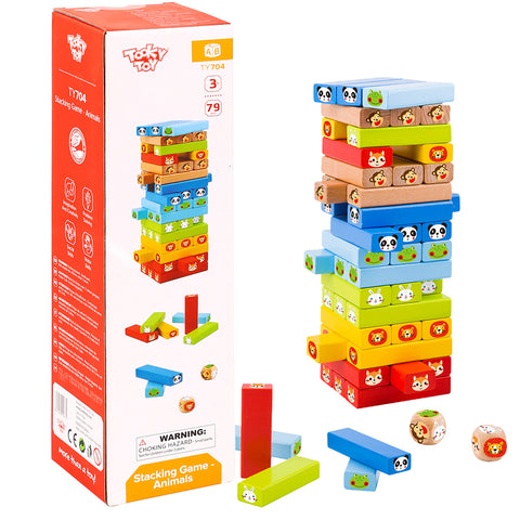 Stacking Game - Animals 79pc