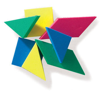 Tangram Plastic 105pc container - iPlayiLearn.co.za  - 3