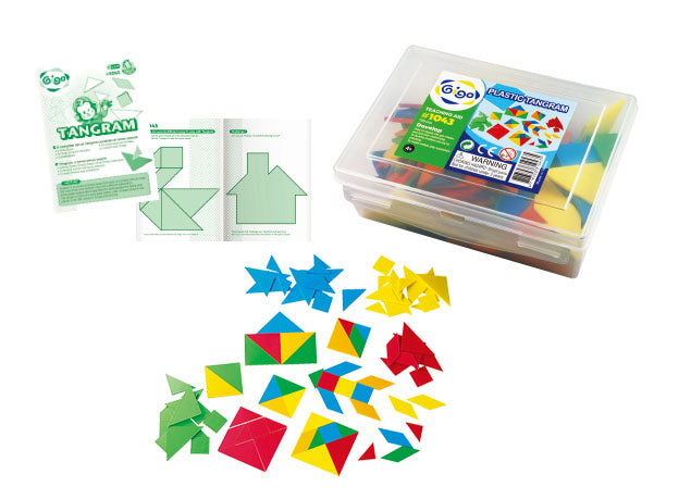 Tangram Plastic 105pc container