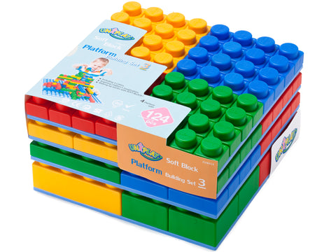 UNiPlay Soft Block Platform Building Set 3 124pc