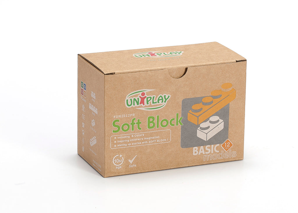 UNiPlay Soft Block Basic 12pc Eco Box