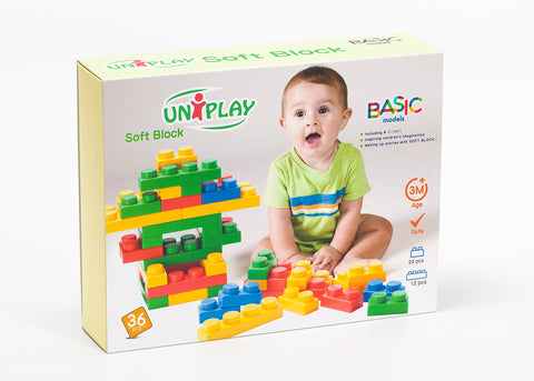 UNiPlay Soft Block Basic 36pc Box