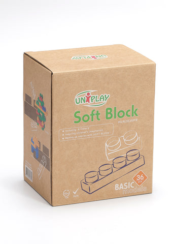UNiPlay Soft Block Basic 36pc Eco Box