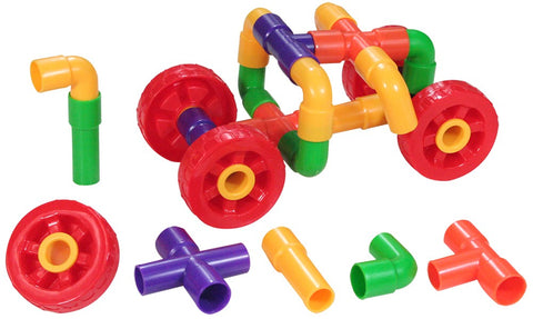 Pipe Builders with Wheels 72pcs Polybag
