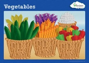 Activity Cards Vegetable Counters - iPlayiLearn.co.za