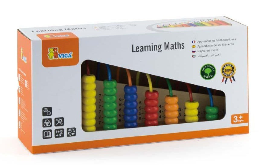 Learning Maths (Wooden Abacus) - iPlayiLearn.co.za