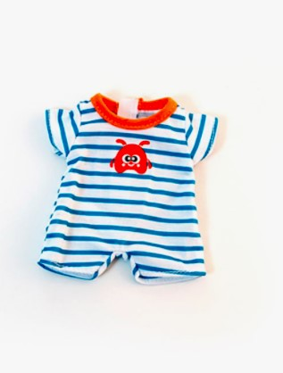 Miniland Dolls of the World Clothing: Warm Weather Stripes PJ's 21cm