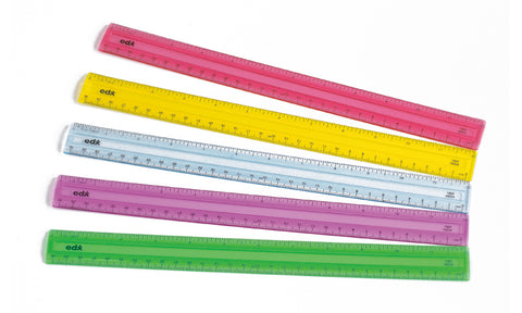30cm 5 Colour Set Rulers