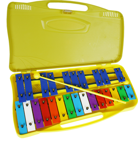 25 Tone Metal Xylophone in Plastic Carry Case