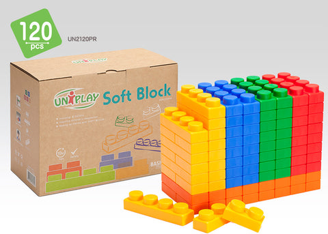 UNiPlay Soft Block Basic 120pc Eco Box