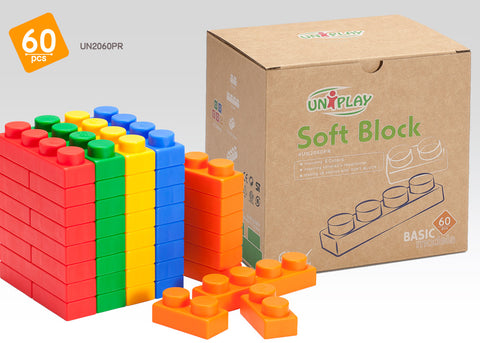 UNiPlay Soft Block Basic 60pc Eco Box