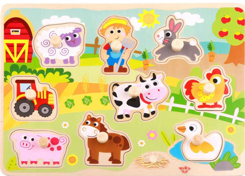 Farm Peg Puzzle 10pc
