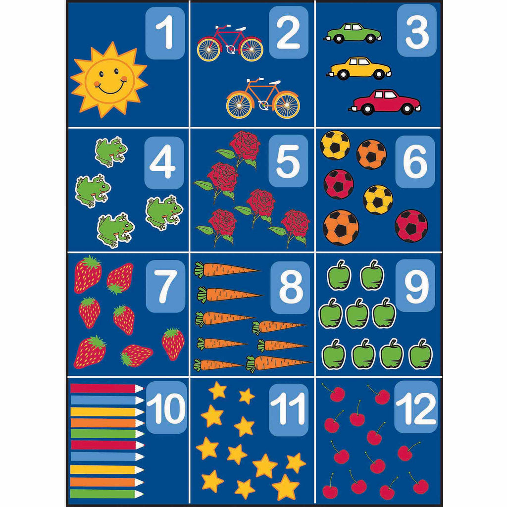 Learning Carpet: Counting 1 to 12 - Rectangular Large