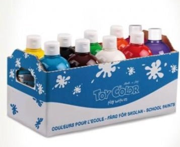 Tempera Paint Superwashable Ready Mix 250ml - 10 Colours