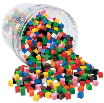 1cm Cubes 1000pc Jar - iPlayiLearn.co.za