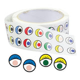 Eye Stickers: Coloured - Roll of 2000