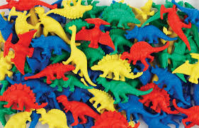 Counters Dinosaurs 6 Colours 128pc Jar