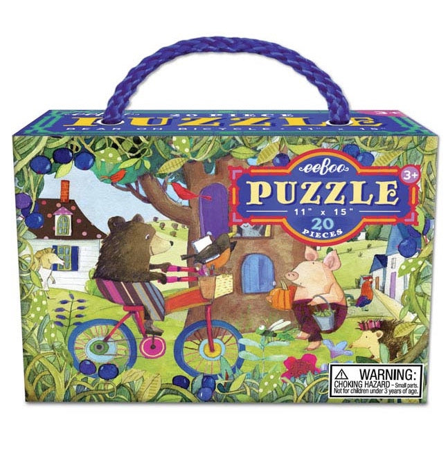 Bear on Bicycle Puzzle 20pc