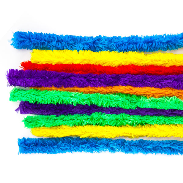 Chenille Stem FLUFFY (Pipe Cleaners) 100pc