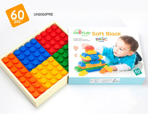 UNiPlay Soft Block Basic 60pc Box
