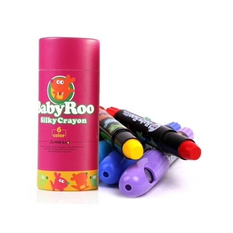 Baby Roo Silky Washable Crayons 6 Colours