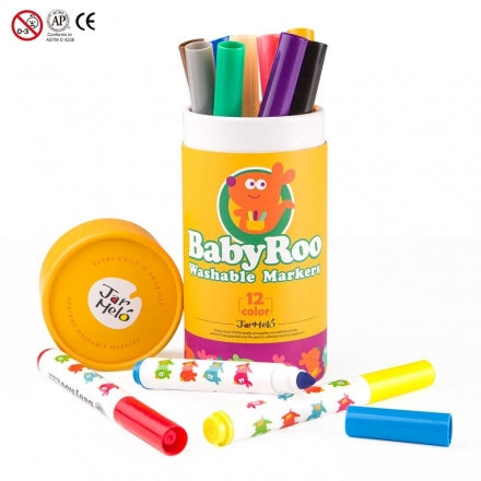 Baby Roo Washable Markers 12 Colours