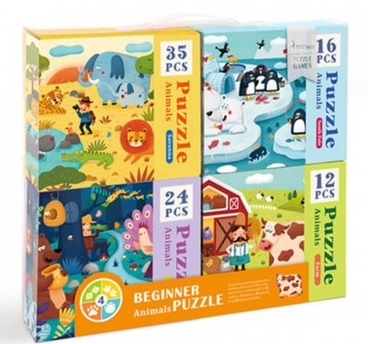 4 in 1 Beginner Animal Puzzle