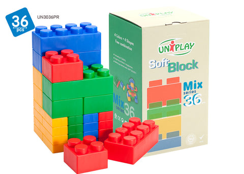 UNiPlay Soft Block Mix 36pc Box