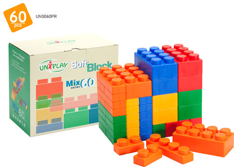 UNiPlay Soft Block Mix 60pc Box