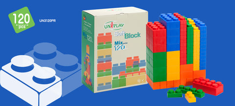 UNiPlay Soft Block Mix 120pc Box