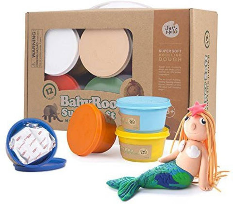 Baby Roo Super Soft Modeling Dough 12 Colours