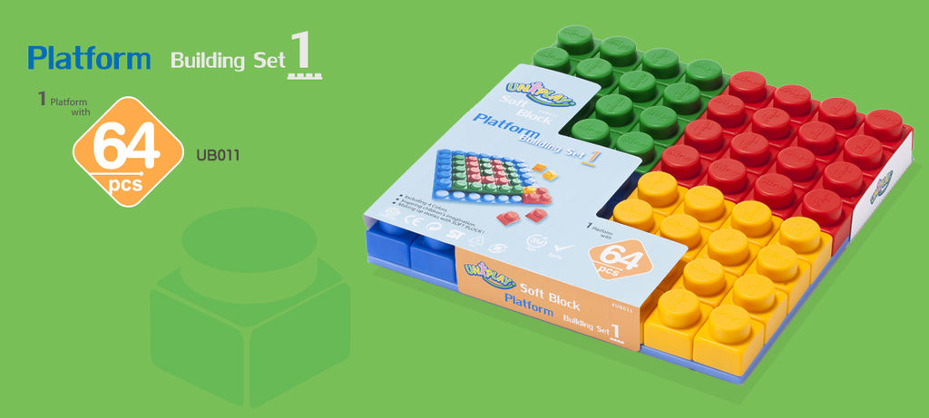 UNiPlay Soft Block Platform Building Set 1 64pc