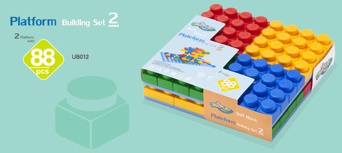 UNiPlay Soft Block Platform Building Set 2 88pc