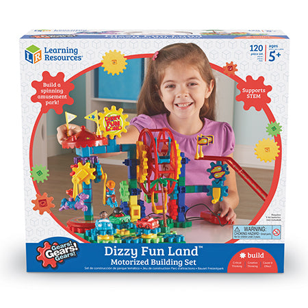 Gears! Gears! Gears!® Dizzy Fun Land™ Motorised Building Set 120pc