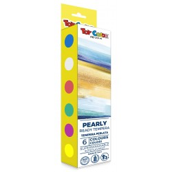 Pearly Ready Tempera 6 Colours 25ml