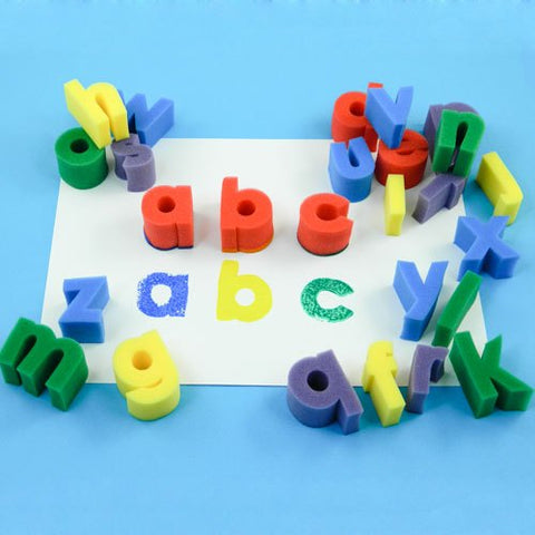 Sponge Painting Set - Alphabet Lower Case (26pc)