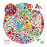 Blue Bird Yellow Bird Puzzle Round 500pc
