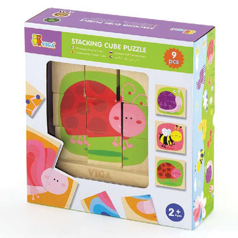 9 Piece Stacking Cube Puzzle – Insects