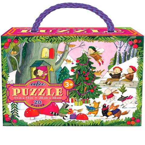 Christmas in the Woods Glitter Puzzle 20pc